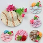 1 Pc Woman Kids Girl Hair Accessory Flower Decor Mini Hat Top For Hat Hair Clip