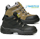 NEW MENS SAFETY LEATHER SHOES HIKING TRAINERS STEEL TOE CAP WORK ANKLE BOOTS