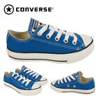 Kids Converse Blue Canvas Junior Girls Boys School Play Dance Trainer Shoes Size