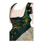 DIRNDL Trachten Oktoberfest Dress German EMBROIDERED 3 pc Long Waitress Party