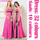 Long sash bridesmaid dress flower girl dress evening dress prom gown party dress