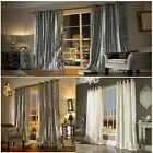 Iliana soft Velvet curtain – Eyelet luxury supersoft curtains by celebrity de...