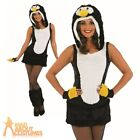 Adult Sexy Penguin Costume Ladies Christmas Fancy Dress Animal Bird Outfit 8-22