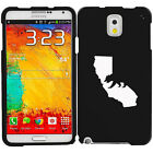 For Samsung Galaxy Note 2 3 4 Rubber Hard Case Cover Cali Bear California