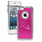 For iPhone 4 4s 5 5s 5c 6 6s Plus Rhinestone Bling Case Heart Love Ice Skating