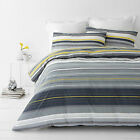 Alex Yellow Striped   Quilt / Doona Cover Set All Sizes NEW 30 - 40% off RRP