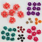 50 Pcs Rhinestone Ribbon Flowers Fit Girls Hair Accessory Costume Sewing Crafts
