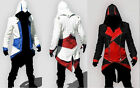 Cosplay Costume red Assassins Creed cosply Conner Coat Jacket Hoodie Cap Cloak