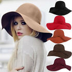 Women Lady Floppy Wide Brim 65%Wool Felt Fedora Cloche Hat Cap Popular Style hot