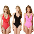 2015 COLLOYES SEXY WOMEN ONE-PICEE BIKINI SWIMWEAR FRINGE TASSEL BEACHWEAR SUIT