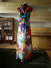 UNTOLD Silk Maxi Dress RRP £150 UK Size 14 Brand New WATERCOLOUR FLORAL