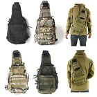 Men's Hiking Canvas Camping Shoulder Molle Backpack Messenger Vintage Sport Bags