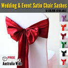 NEW Satin Chair Cover Sash Sashes Bows bow Wedding Party Event Decor Decoration