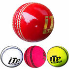 Leather Cricket Hard Ball Match Ball MENS,LADIES Size 43/4 & 5.5OZ 4 COLORS