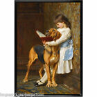 animal dog horse picture print Charles Burton  Barber Briton Rivier Painter