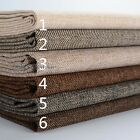 Plain Thick Linen Fabric Cloth DIY Craft Cushion Sofa Couch Curtain Upholstery