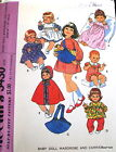 """Vtg 70s Baby DOll Craft Pattern dress nightgown cape romper front carrier 14"""" 16"""