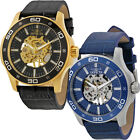Invicta Specialty Automatic Skeleton Mens Leather Watch