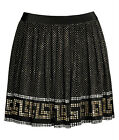 Versace H&M UK 8 14 16 Black Key Studded Metal Studs Skirt New with Tags BNWT