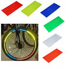 Fluorescent MTB Bike Cycling Wheel Rim Reflective Stickers Decal 6 Colors
