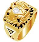 10k 14k White or Yellow Gold Masonic Scottish Rite Freemason Ring