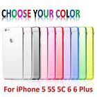 Slim Soft Hard Crystal Clear Case Cover For Apple iPhone 4 5 5S 5C 6 6S Plus