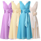 Sexy Short Chiffon Bridesmaid Wedding Summer Party Prom Cocktail Evening Dresses