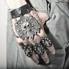 Skull Stud Wristband Faux Leather Bangle Bracelet Chain Punk Gothic Cosplay New