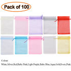 100 25 LUXURY Organza Gift Bags Jewellery Pouch XMAS Wedding Party Candy Favour <br/> 10 SIZES AVAILABLE,FROM 5 x 7CM to 30 x 40CM!!!