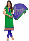 Indian Evoking Green Colored Embroidered Jacquard Salwar Kameez By Triveni