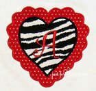 Infant Toddler Girls Personalized Letter Heart Zebra  Valentinesd Day LS Shirt