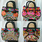 Thai Hmong Tribal Vintage Floral Embroidered Small Purse Bag Handbag Thailand