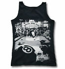 Cats Suck Saloon 8 Ball Pool Womens Ring-Spun Soft-Style Vest Tank Top Sm-2XL