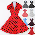 Vintage Style Swing 1950s 60s Wiggle Pinup Rockabilly Tea EVENING Dresses XS-XL