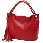 Women Tassel Fake Leather Portable Handbags Casual One Shoulder Messenger Bags