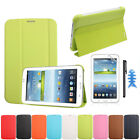 Leather Case Cover For Samsung Galaxy Tab 3 7.0 T210 T211+Film +Stylus Lucky