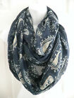 New Women Paisley Floral Print Infinity Circle Cowl Neck Long Scarf Shawl Wrap