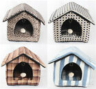 luxurious cat beds -  New luxurious Pet Dog Cat Folded House Beds Kennel +ball size S,M,L