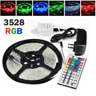 5M Waterproof 3528 SMD 300 LED Strip Rope Lights /DC Connector /12V Power Supply