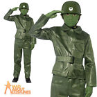 Child Plastic Toy Soldier Costume Boys Green Army Fancy Dress Book Week Outfit