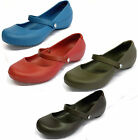 LADIES CROCS ALICE WORK WOMEN SLIP ON STRAP COURT SHOES IN 4 DIFFERENT COLOURS