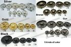 100 sets Sewing Popper Metal Copper snap Fasteners Press Covered Buttons 5color
