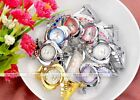 1pc Alloy Women Hollow Crystal Cuff Bangle Bracelet Quartz Wrist Watch Jewelry