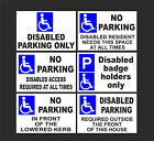 Various Disabled Parking Signs-Badge Holders, Access Required-Metal Dibond Holed