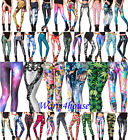 Women Colorful Galaxy Print Leggings Stretchy Sexy Jeggings Pencil Tight Pants