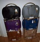 Joy & Iman 22-Section Luxe Genuine Leather Handbag w WATCH, STRAP, DUSTBAG NWT