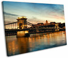 Budapest Chain Bridge Royal Palace Framed Canvas Wall Art Picture Print