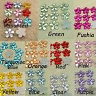 500-2500 Acrylic Flower Rhinestone Bead Flatback 15mm 10 Colors Scrapbooking New