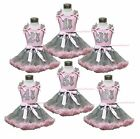Easter Bunny Neckerchief Pink Top 1ST 2ND 3RD 4TH Birthday Gray Skirt Set 1-8Y