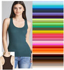 Plus Racerback Tank Top Womens Long Active Basic Ribbed Clas